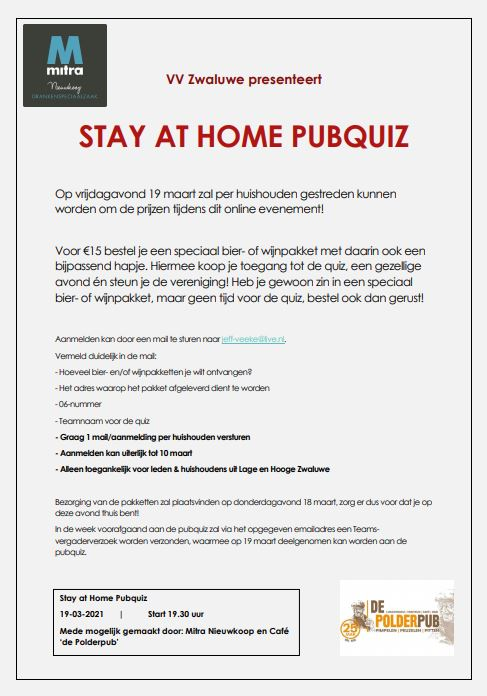 Stay At Home Pubquiz