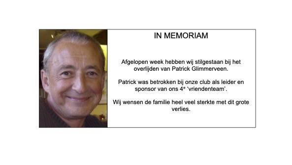 In memoriam Patrick Glimmerveen
