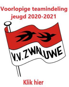 Voorlopige teamindeling Jeugd 2020-2021